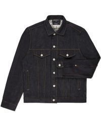 Paul Smith Indigo Raw Denim Jacket - Lyst