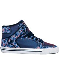 Supra Vaider Orchid Print High Top Trainers - Lyst