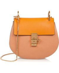 Chloé Drew Small Textured-Leather Shoulder Bag - Lyst