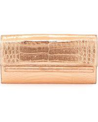 Nancy Gonzalez Metallic Crocodile Clutch Bag - Lyst