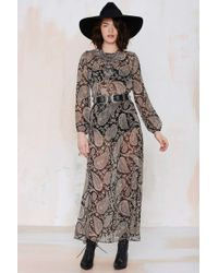 Nasty Gal After Party Vintage Madison Chiffon Dress black - Lyst