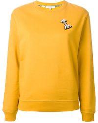 Carven Crystal Arrow Sweatshirt - Lyst