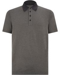 Giorgio Armani Jacquard Polo Shirt - Lyst