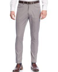 Calvin Klein Herringbone Five-pocket Pants - Lyst
