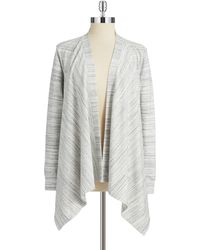 DKNY Heathered Open Front Cardigan - Lyst