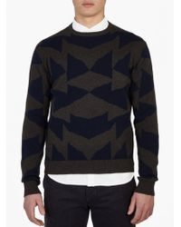 Saturdays NYC | Mirror Patterned Cotton Sweater | Lyst