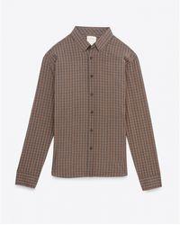 Billy Reid Murphy Shirt brown - Lyst