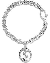 Gucci Double G Charm Bracelet - For Women silver - Lyst
