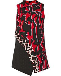 Proenza Schouler Printed Crepe and Fil Coupé Top - Lyst