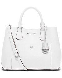 MICHAEL Michael Kors Greenwich Large Leather Tote Bag - Lyst