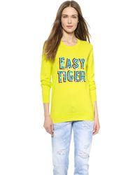 Markus Lupfer Easy Tiger Sequin Natalie Sweater - Acid Lime - Lyst