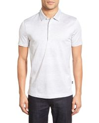 BOSS | Regular-Fit Striped Cotton Polo Shirt | Lyst