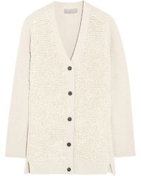 Mulberry Wool Cashmere and Silk-blend Cardigan - Lyst