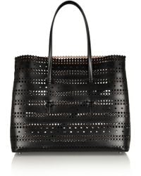 Alaïa Lasercut Leather Tote - Lyst