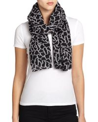 Rag & Bone Pebble-Print Wool & Silk Scarf - Lyst