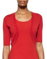 Michael Kors Merino Wool Half-Sleeve Shrug red - Lyst