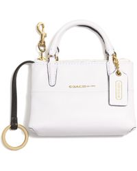 Coach White Borough Bag Key Ring - Lyst