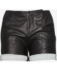 MM6 by Maison Martin Margiela - Leather Shorts - Lyst