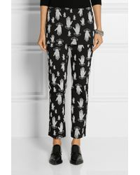 Opening Ceremony Flocked Cottonblend Straightleg Pants - Lyst