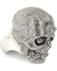 Alexander McQueen | Diamante Skull Ring | Lyst