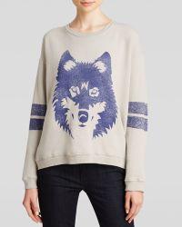 Wildfox Sweatshirt - Wolf Fleece - Lyst