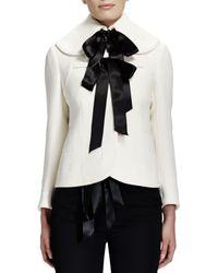 Alexander McQueen Seamed Wool Ribbon Jacket - Lyst