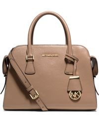 Michael Kors Harper Medium Leather Satchel - Lyst