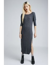 Forever 21 Ribbed Dolman Maxi Dress - Lyst