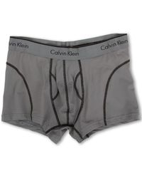 Calvin Klein Gray Athletic Trunk - Lyst