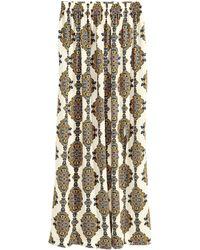 H&M Long Satin Skirt - Lyst