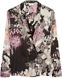 Day Birger Et Mikkelsen Night Flower Printed Satin Jacket - Lyst