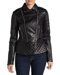 Dawn Levy Quilted Leather Moto Jacket - Lyst