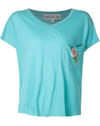 Wildfox Rose Pocket Romeo Tshirt - Lyst