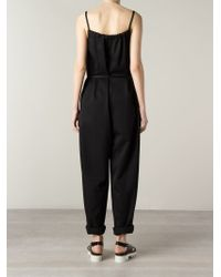 Harvey Faircloth - Ribbon Belted Strappy Jumpsuit - Lyst
