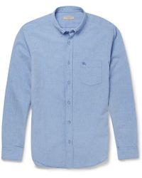 Burberry Brit Cotton And Linen-Blend Chambray Shirt - Lyst