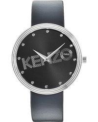 Kenzo Silver-toned Matte Dial Watch - Lyst