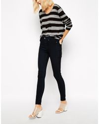 Cheap Monday Spray On High Waist Skinny Jeans - Lyst