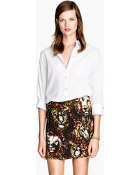 H&M Quilted Skirt - Lyst