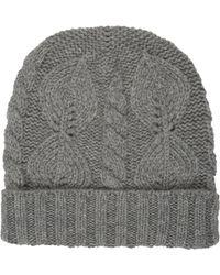 Barneys New York Mixed-Stitch Knit Hat - Lyst