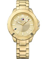 Tommy Hilfiger Womens Goldtone Stainless Steel Bracelet Watch 38mm - Lyst