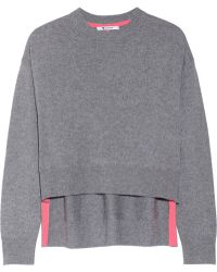 T By Alexander Wang Marled Wool And Cashmere-Blend Sweater - Lyst