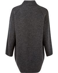 Oska - Dark Grey Seam Panel Wool Cocoon Jacket - Lyst