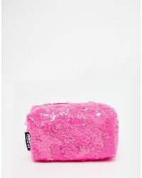 Jaded London | Pink Sequin Make-up Bag | Lyst