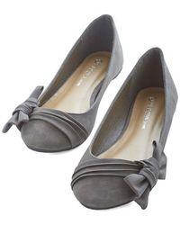 Legend Footwear Inc Anywhere You Bow Flat - Lyst