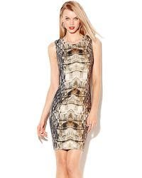 Vince Camuto Printed Bodycon Dress - Lyst