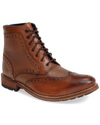 Ted Baker 'Sealls' Wingtip Boot brown - Lyst