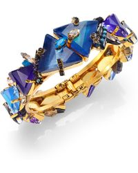 Erickson Beamon Talitha Crystal Cluster Bangle Bracelet - Lyst