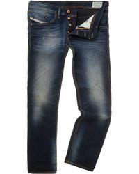 Diesel Belther 608a Dark Rinse Slim Taper Jeans - Lyst