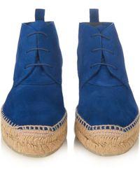 Balenciaga Desert Suede Boots - Lyst