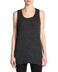 Dolce & Gabbana Marled Wool Tank Sweater - Lyst